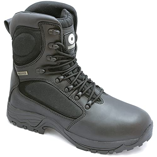 58b5e9ab7c1 Lambretta Waterproof Steel Toe Safety Combat S3 Work Boots Black