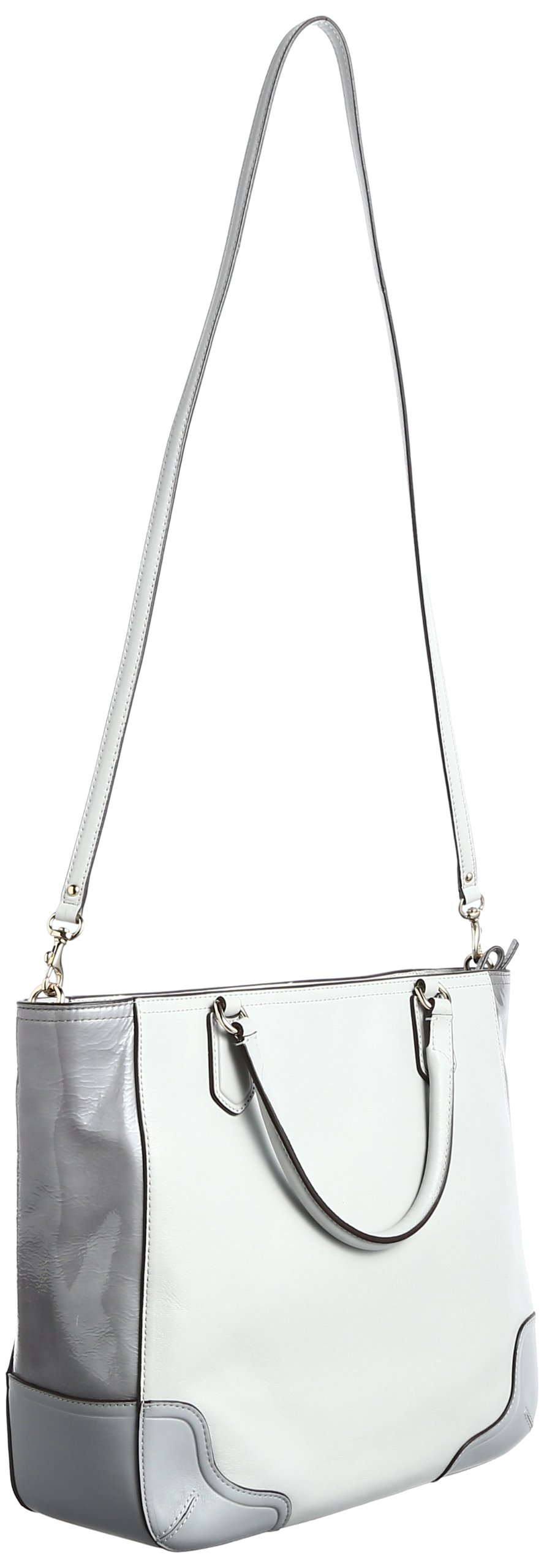 Coach Poppy Colorblock Leather Small Blaire Tote (Light Grey) by Coach (Image #2)