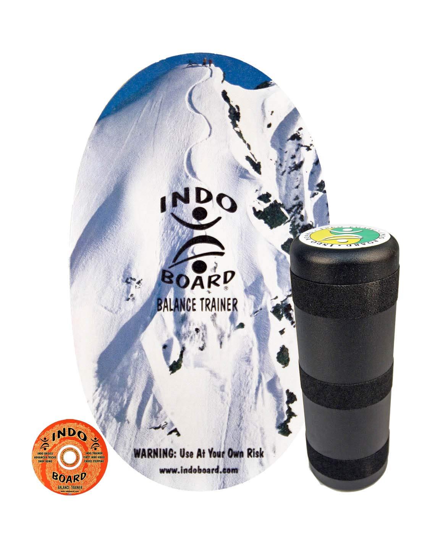 INDO BOARD Original Balance Board with 6.5'' Roller and 30'' X 18'' Non-Slip Deck - Snow Peak Design