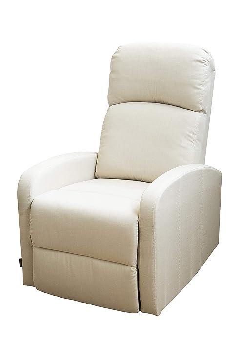 Astan Hogar Confort Sillón Relax con Reclinación Manual, Tapizado en Tela. Modelo Premium Plus AH-AR30610CR, Crema, Compacto
