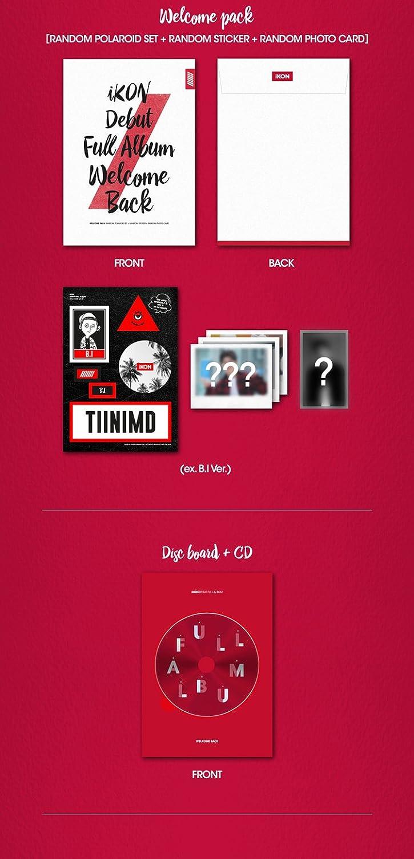 iKON DEBUT FULL ALBUM WELCOME BACK CD+Welcome Pack+Free Gift Random ver.