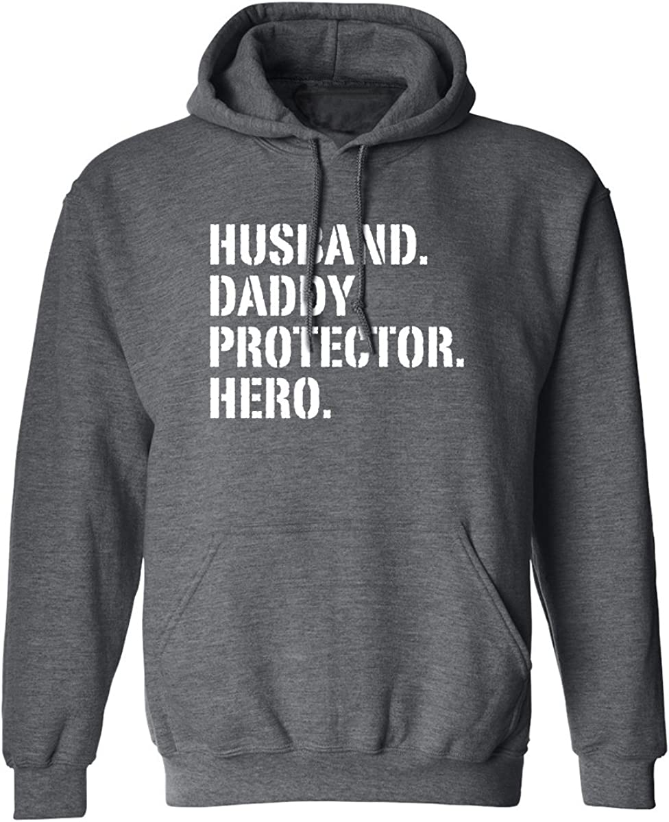 Adult Hooded Sweatshirt zerogravitee Husband.Daddy.Protector.Hero