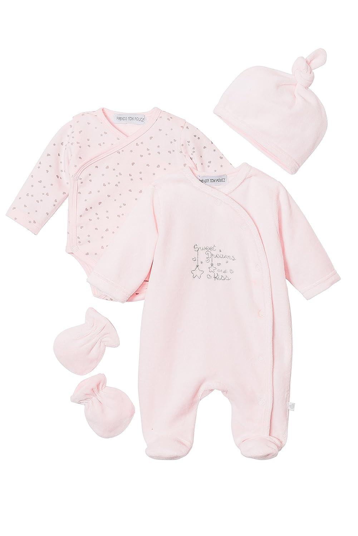 eebabfd26d1 Joli ensemble bébé 4 pces - Pyjama velours