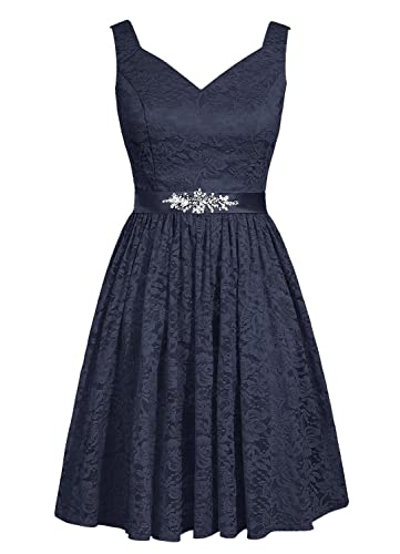 Angel Formal Dresses Women's Short Lace Bridesmaid Dresses Evening Prom Gown