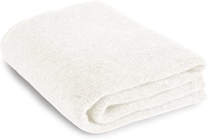 Love Cashmere Soft 100% Cashmere Sofa Throw Blanket - White - Made In Scotland RRP £400: Amazon.co.uk: Kitchen & Home