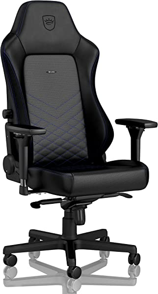 noblechairs Hero Gaming Chair - Office Chair - Desk Chair - PU Leather - 330 lbs - 125° Reclinable - Lumbar Support - Racing Seat Design