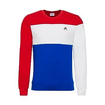 Sudadera Le Coq Sportif - Tri Nº1 rojo/blanco/azul talla: XS (X-Small): Amazon.es: Ropa y accesorios