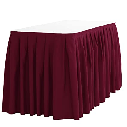 3b2ca1ed7bd2 Image Unavailable. Image not available for. Color: LinenTablecloth 14 ft. Accordion  Pleat Polyester Table Skirt Burgundy