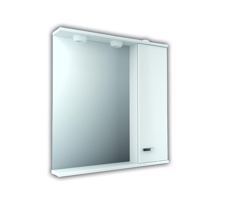 The Living Design Volta armadio con luce e presa, legno, bianco, 67 x 70 x 16.6 cm 67x 70x 16.6cm BM Tevisa 743800