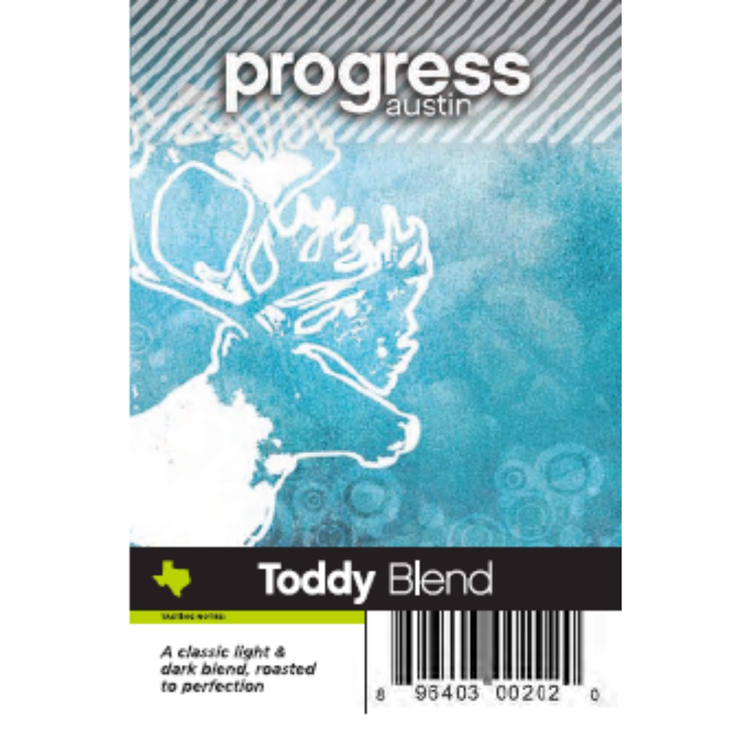 Progress Austin Cold Brew Toddy Blend Coffee Gourmet Grocery Food Beverages Organic Fresh Ground Whole Bean Coffee Bag Chocolate Light Berry Flavors - 12 Oz