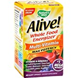 Nature's Way, Alive! Max6 Dailiy, Multi-Vitamin, Max Potency, 90 Veg Caps