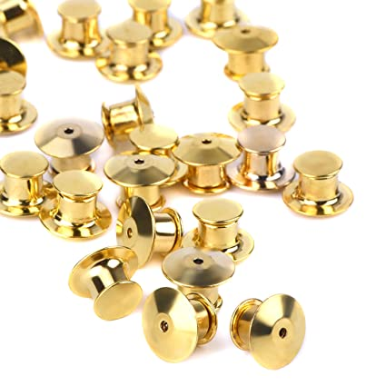 eBoot 30 Pieces Golden Locking Pin Keepers Backs, No Tool Required