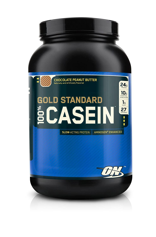 Optimum Nutrition 100% Gold Standard Casein Protein Chocolate Peanut Butter 2 lbs  B004BOROPA