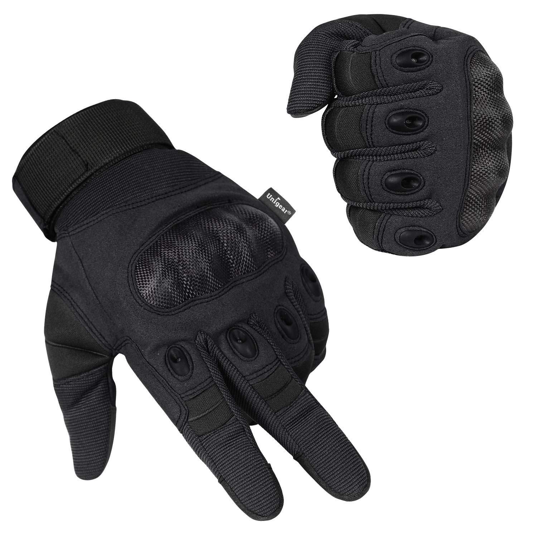 Unigear Guantes para Moto Pantalla Táctil Guantes Tácticos Militares Dedo Completo Antideslizante CE Verificada Universal para Motocicleta Bicicleta ...