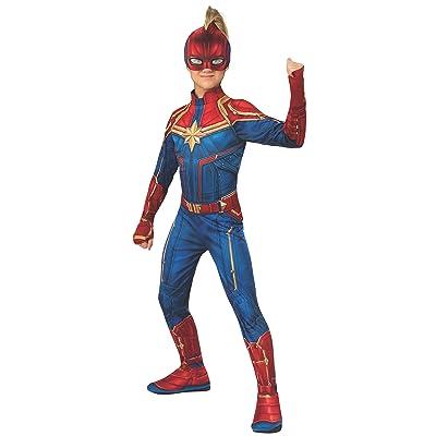 Rubie\'s Captain Marvel Hero Costume Suit, Large, Blue/Red, Model:700594: Toys & Games [5Bkhe2003947]