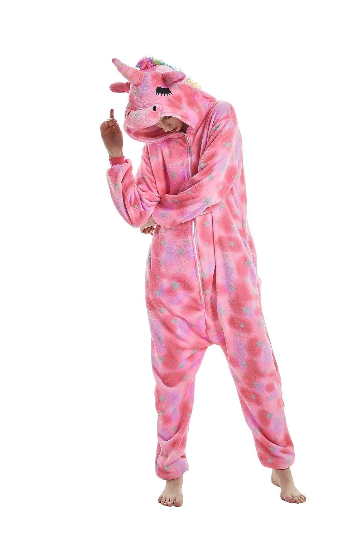 TALLA M:apto para la altura 159-166cm. heekpek Pijamas Unisexo Adulto Cosplay Traje Disfraz Animales de Vestuario Ropa de Dormir Halloween y Navidad