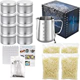 Candle Making Kit Supplies, Beeswax DIY Candle Craft Tools Including Candle Make Pouring Pot, Candle Wicks, Wicks Sticker, 3-