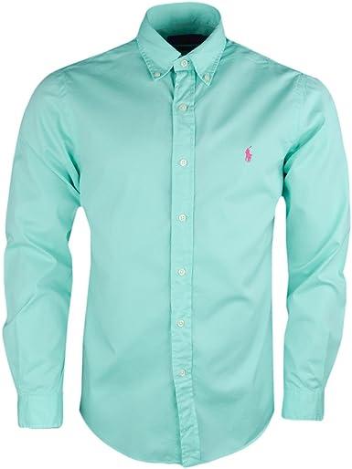 Ralph Lauren - Camisa Casual - Blusa - para Hombre Verde S: Amazon.es: Ropa y accesorios