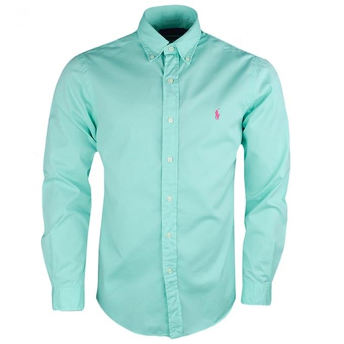Ralph Lauren - Camisa Casual - Blusa - para Hombre Verde L  Amazon.es  Ropa  y accesorios 63e538470f2