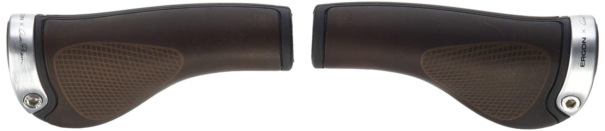 Ergon grips GP1 BioLeder brown (silver clamps)