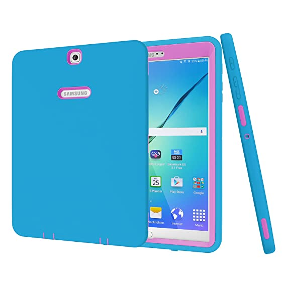 new concept 9684d f778f Galaxy Tab S2 9.7 Case, Beimu 3 in 1 Shockproof Heavy Duty Rugged Hybrid  Armor Defender Protection Cover for Samsung Galaxy Tab S2 ...