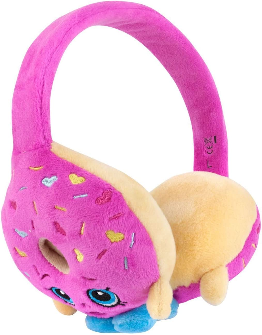 Shopkins D lish Donut Plush Headphones Pink