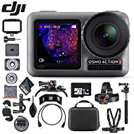 DJI Osmo Action 4K Camera - 16GB Micro SD Memory Card - Mounting Kit - Cardreader - Cleaning Cloth & More