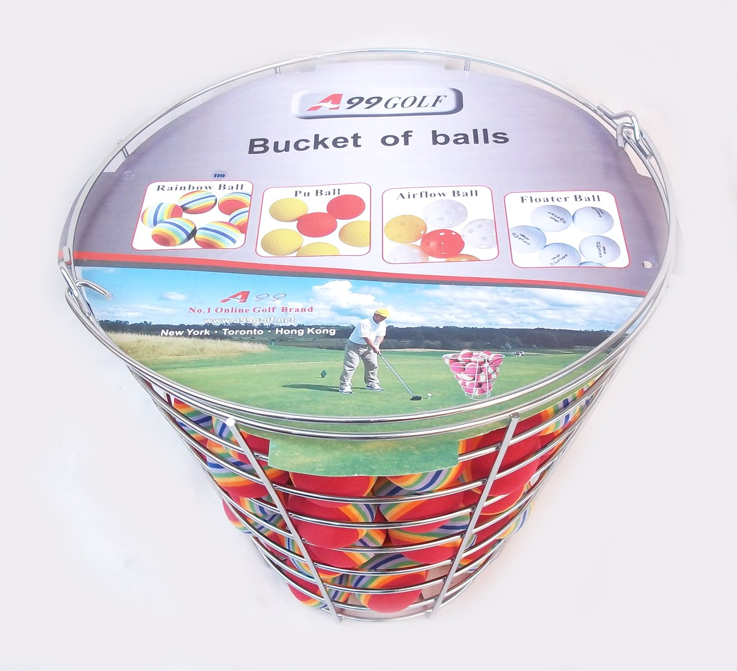 A99 Golf Rainbow Foam Ball Practice 50 Pcs with Bucket by A99 Golf (Image #3)