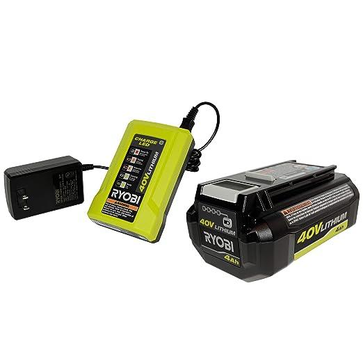 Ryobi (1) OP404 Cargador de batería de 40 voltios (1 ...