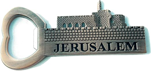 New Red metal Souvenir Fridge Magnet israel 3d  Jerusalem Tower of David .opener