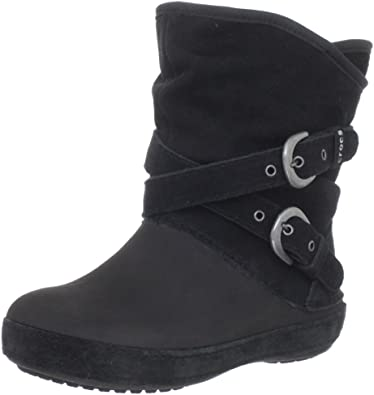 b0cd01525d Crocs Berryessa Side Buckle Boot (Toddler Little Kid)