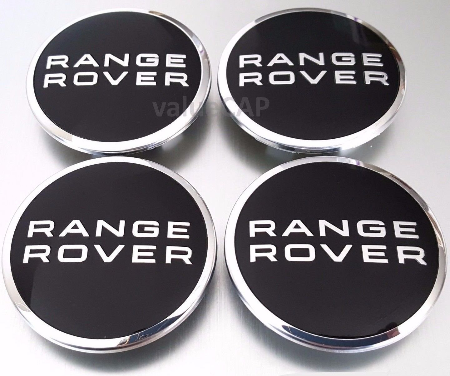 4 X .Range Rover Land Rover Supercharged BLACK Badge Wheel Center Hub Caps