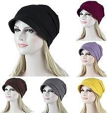 2018 Latest Hot Style!!!Teresamoon Women Soild India Muslim Stretch Turban Hat Camouflage Hair Loss Head Scarf Wrap