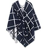Moss Rose Women's Shawl Wrap Poncho Ruana Cape Open Front Cardigan for Spring Fall