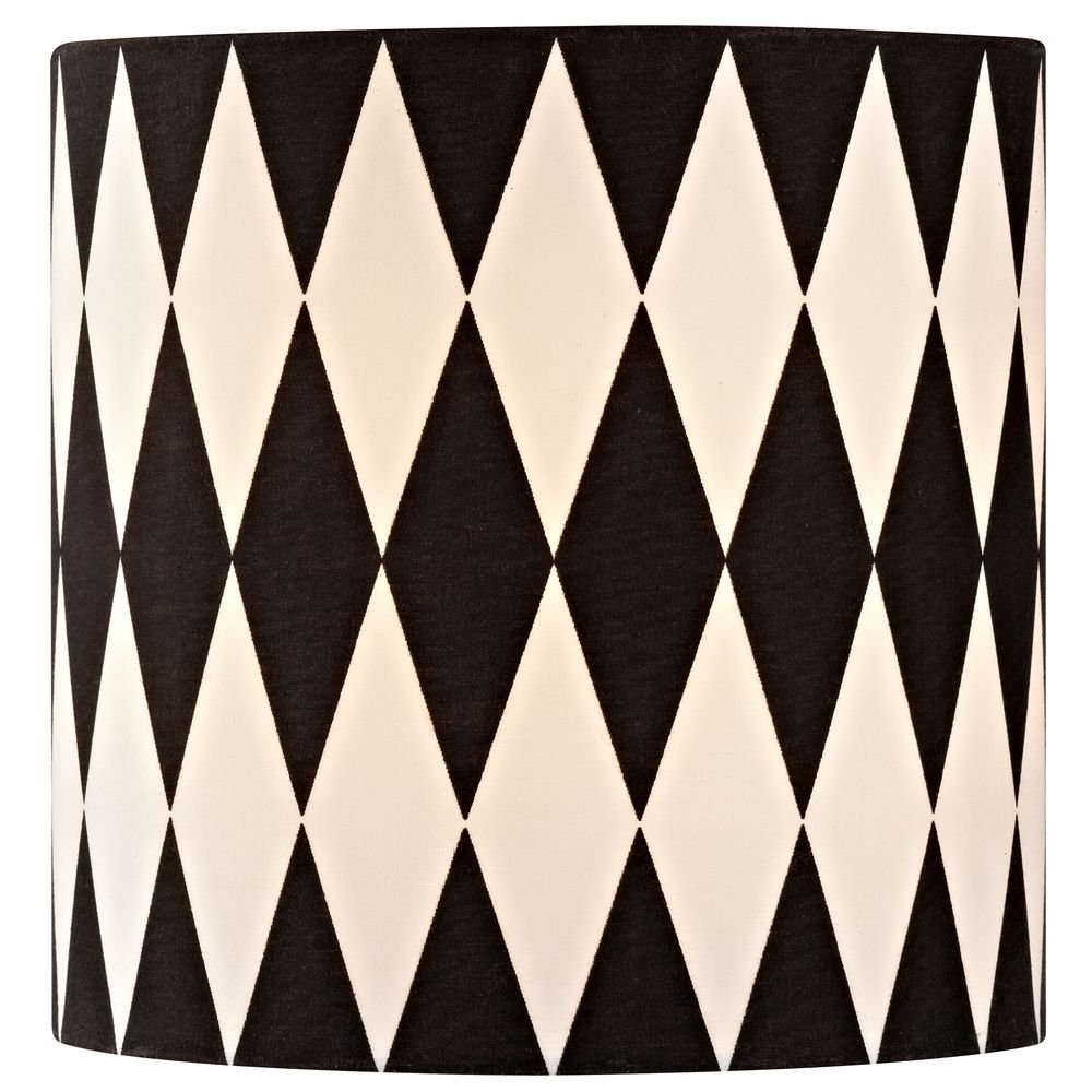 Amazon lamp shades tools home improvement - Black White Drum Lamp Shade With Uno Assembly Lampshades Amazon Com