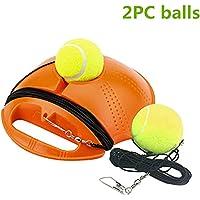 Lazapa - Pelota de tenis para entrenamiento de tenis al aire libre con diseño de tenis de imitación, perfecto para entrenar tenis y 2 pelotas