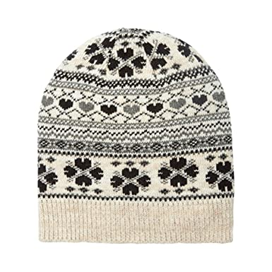 001b2d0bf1322 Alice Hannah Frankie Hearts Fairisle Knitted Beanie Hat  Amazon.co.uk   Clothing