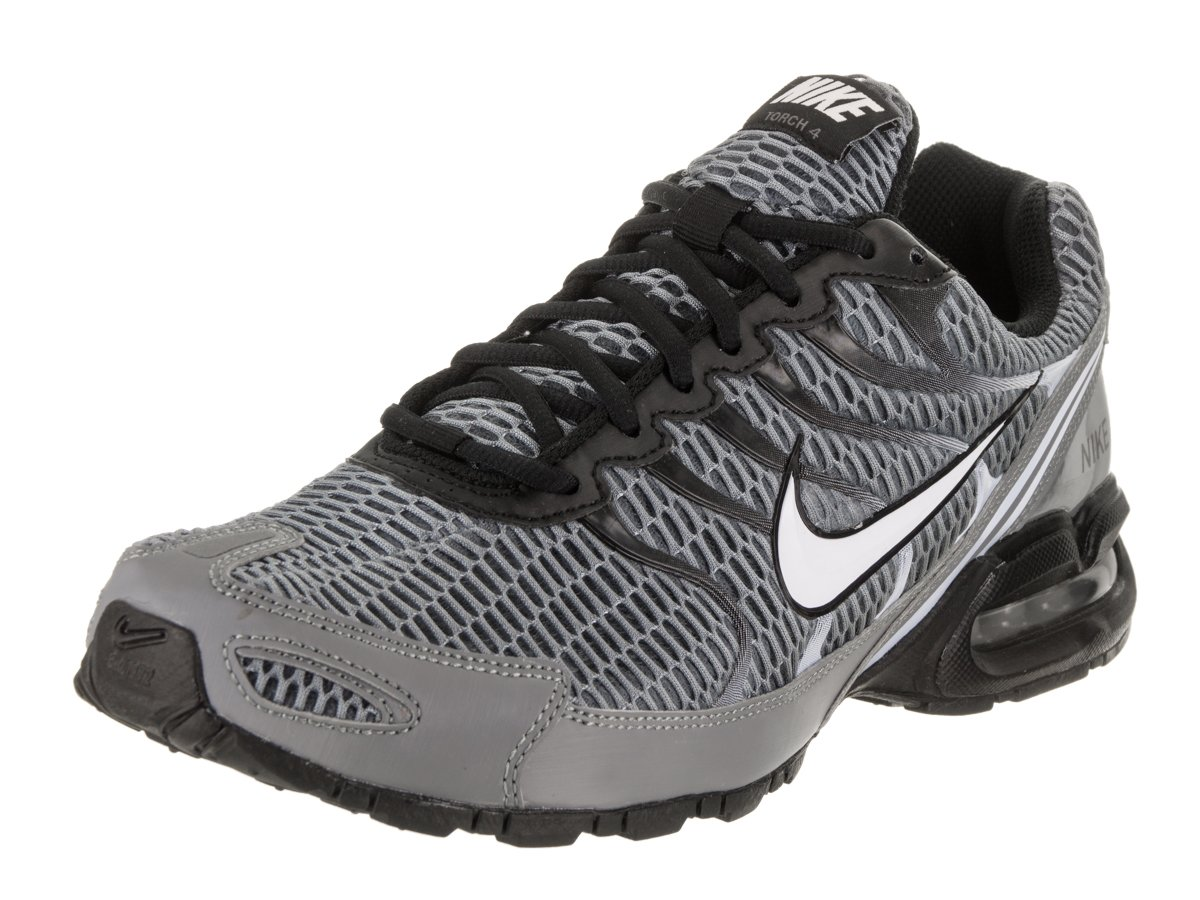 NIKE Men's Air Max Torch 4 Running Shoe Cool Grey/White/Black/Pure Platinum Size 10 M US