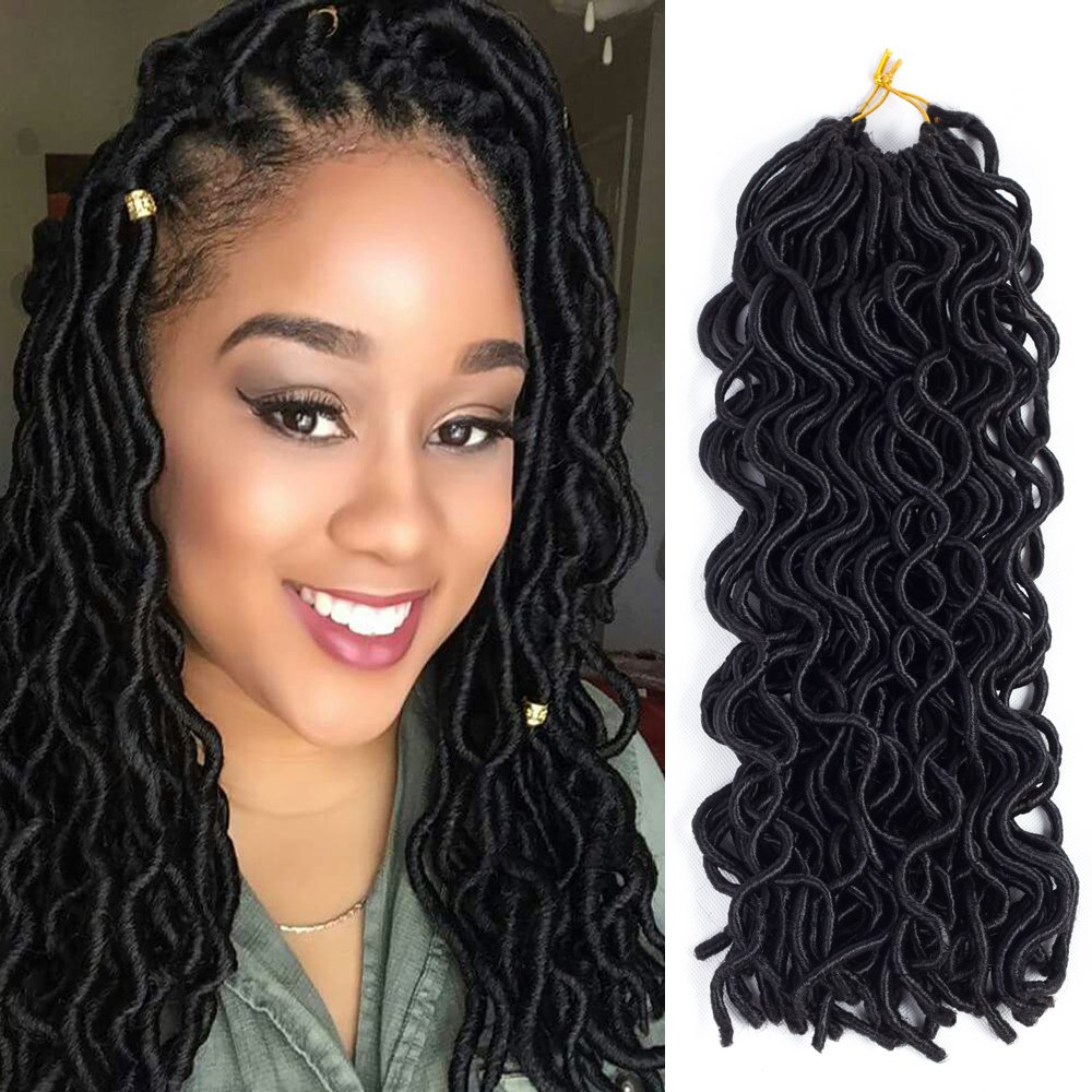 Amazon 6packs 14 Wavy Faux Locs Crochet Hair Braids Twist