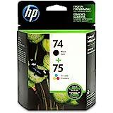 HP 74 Black & 75 Tri-Colour Original Ink, 2 Cartridges (CC659FN)