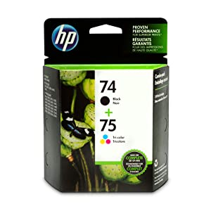 HP 74 | 2 Ink Cartridges | Black, Tri-color | CB335WN, CB337WN