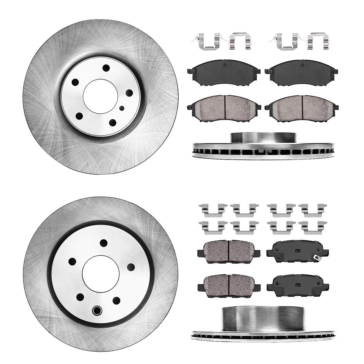 4 Brake Disc Rotors + Hardware 2 FRONT 320 mm Premium OE 5 Lug Ceramic Brake Pads