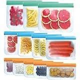SYEENIFY Reusable Storage Bags, Reusable Gallon Bags & Reusable Sandwich Bags & Reusable Lunch Bag & Reusable Snack Bags, BPA