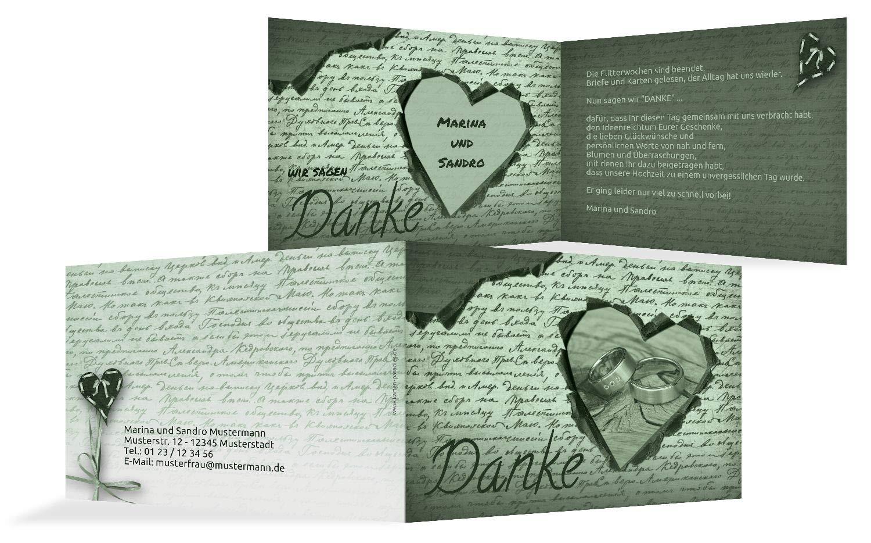 Hochzeit Dankeskarte 2 Herzensgedicht, 10 Karten, braunmatsch B07HNHZP8J | Exzellente Exzellente Exzellente Verarbeitung  | Verkaufspreis  | Sehr gute Qualität  c8d311
