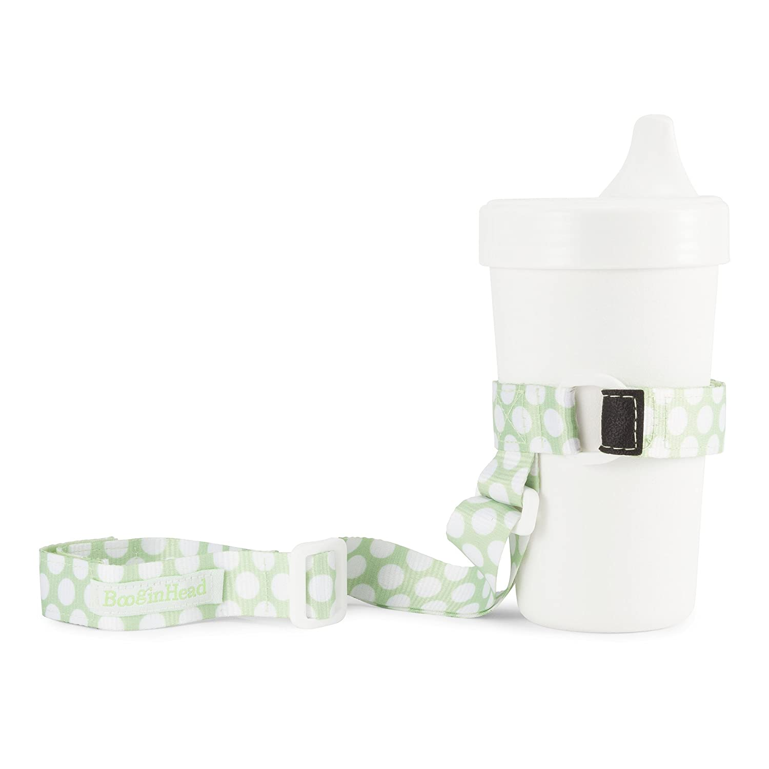 BooginHead - SippiGrip Sippy Cup and Bottle Holder, High Chair and Car Seat Universal Attachment Strap - Chevron, Gray and White SG-CHEV