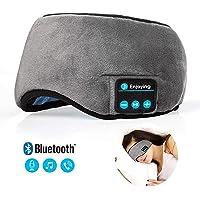 Ocamo Visera Bluetooth para Dormir, Antifaz para Viaje, Antifaz para Dormir, Gafas para Dormir con Manos Libres, Altavoz y micrófono incorporados