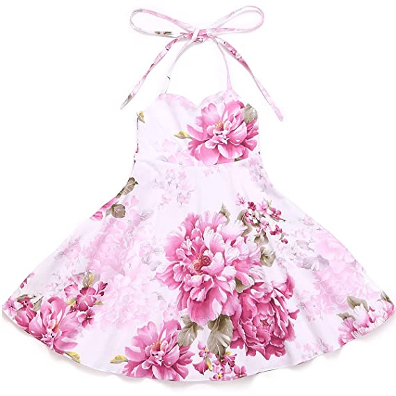 d36517975e Flofallzique Girls Dress Baby Girls Clothes Vintage Flower Wedding ...