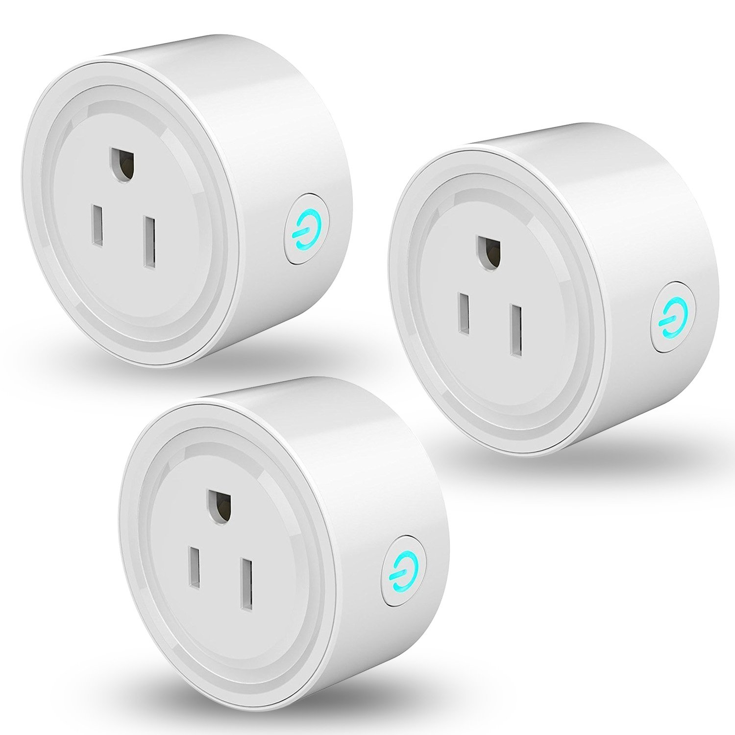 Mini Smart Plug Outlet,Compatible with Alexa Echo Google Home, EEEKit Wifi Voice and App Remote Controlled Socket - No Hub Required (3-pack)