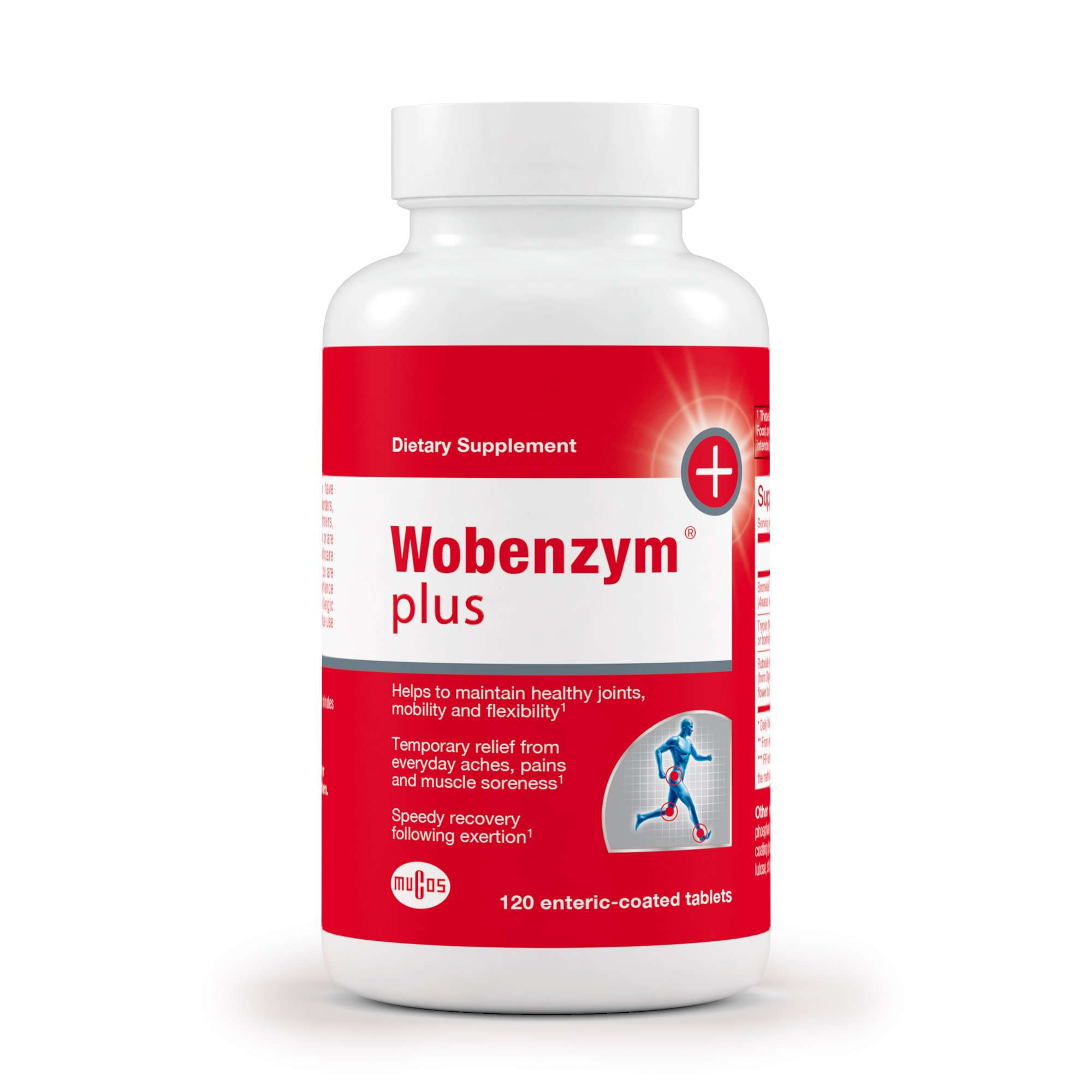 Wobenzym - Wobenzym Plus - Number One Joint Health Pill in Germany*, Supports Joint Function, Muscles and Recovery after Exertion - 120 Enteric-Coated Tablets by Wobenzym