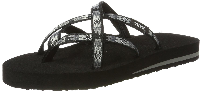Teva Women's Olowahu Flip-Flop B07C35JR4N 38 M EU / 7 B(M) US|Pana Black/Grey